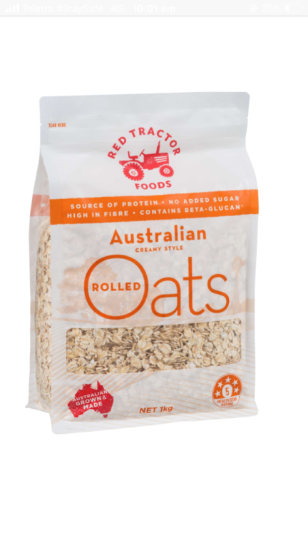 Rolled Oats  1kg red tractor