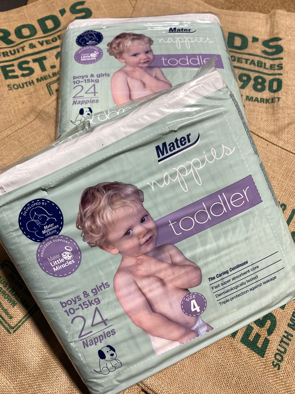 Nappy Toddler Mater size 4   24pack