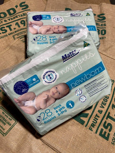 Nappies New Born Mater size 1 pack 28nappies