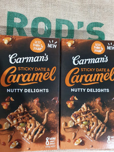 Carmans Nutty delights 8 mini bars