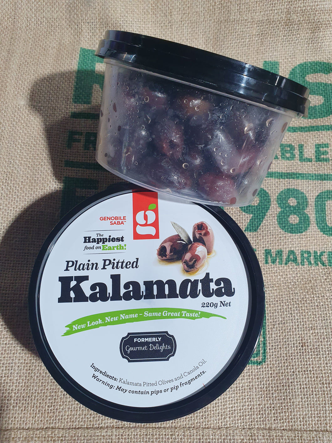 Pitted Kalamata 220g Large Tub