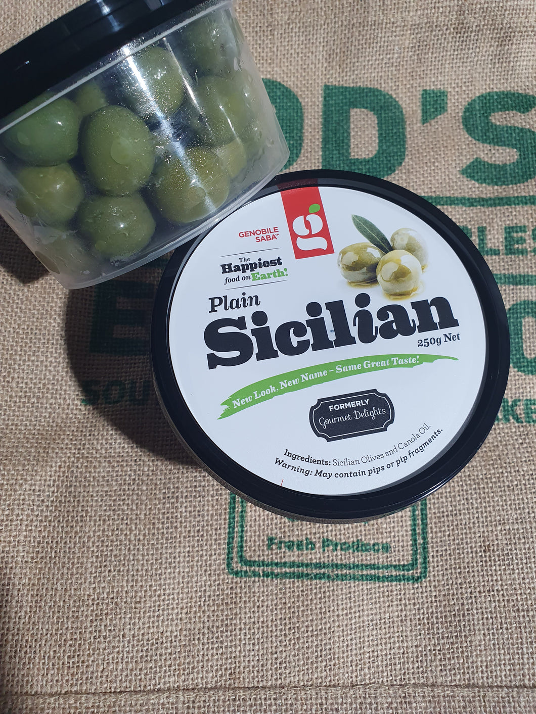 Olives-Sicilian  Plain 250g Large Tub