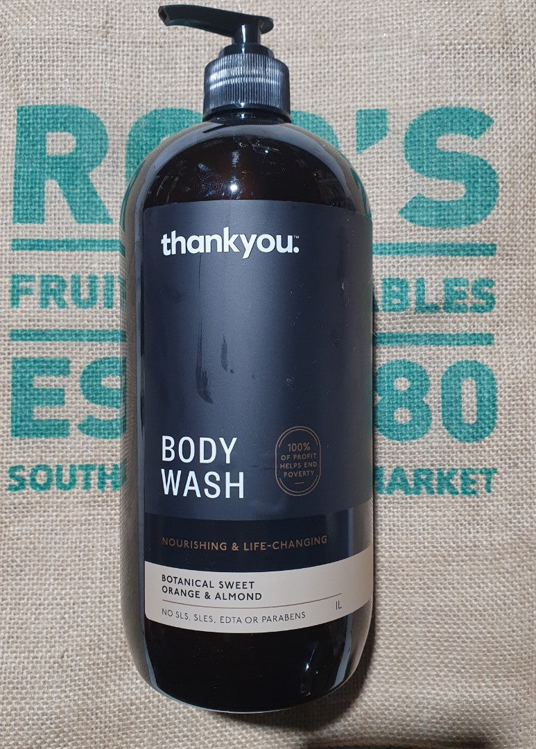 Thank You Body Wash 1litre Botanical Sweet