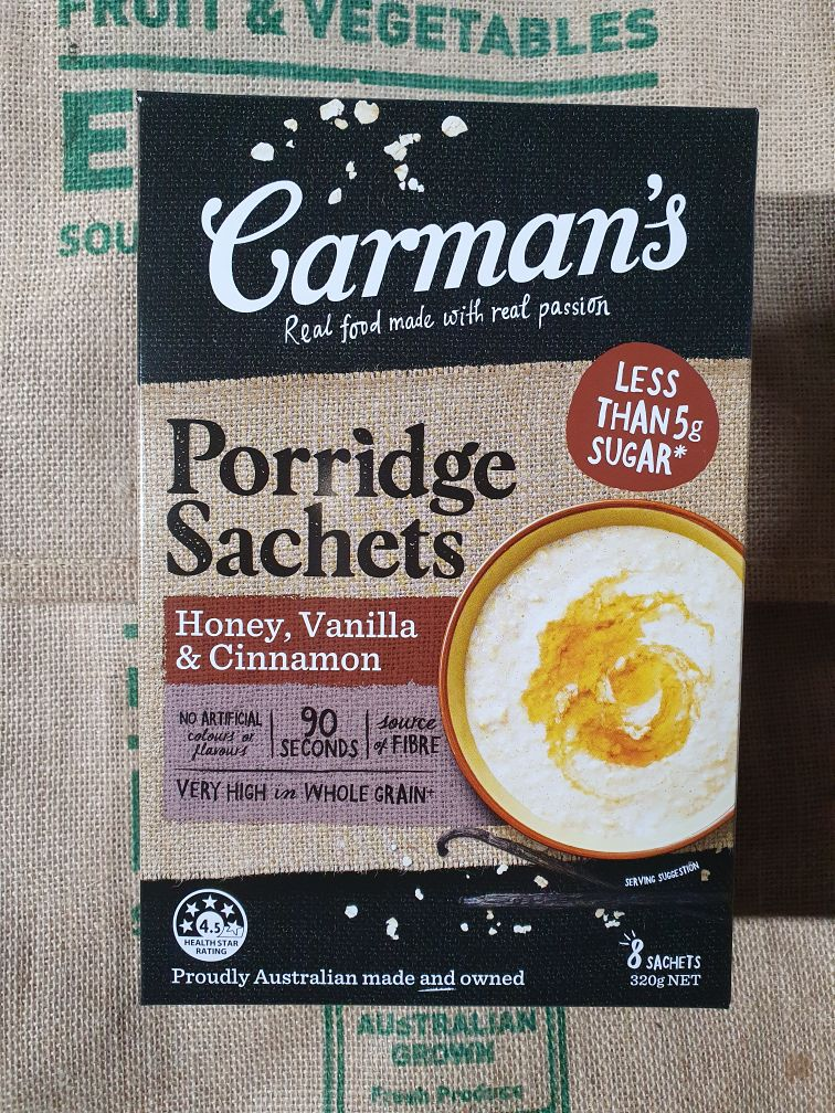 Porridge Honey Vanilla Cinnamon  320g x 6 satches