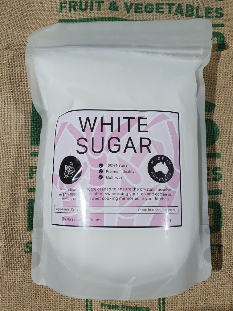 White Sugar Australian 1kg Bag! Good value