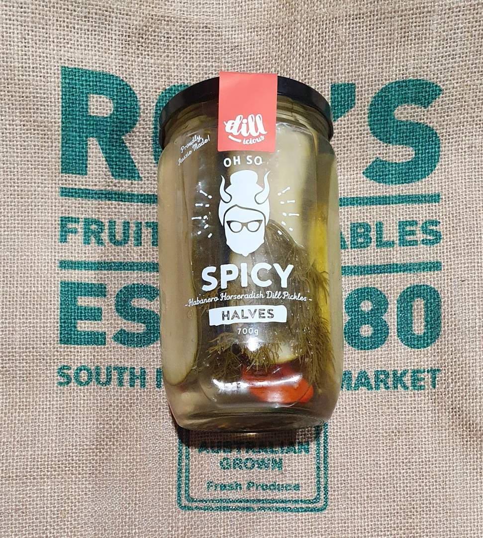 Spicy Halves Dill pickles