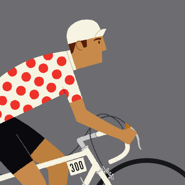Cycling Gifts, Personalised Art, King of the Mountains