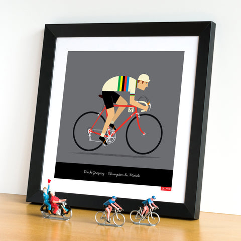 gifts for cyclists, personalised cycling print, rainbow jersey