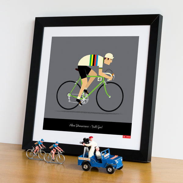Male personalised cycling print, rainbow jersey