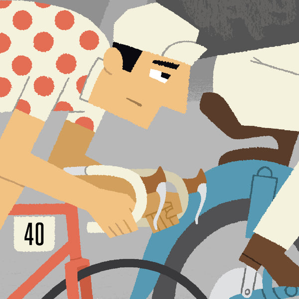 Race Leader personalised cycling print detail - rider.