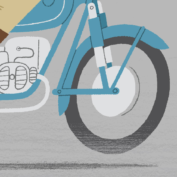 Race Leader personalised cycling print detail - Motorbike.