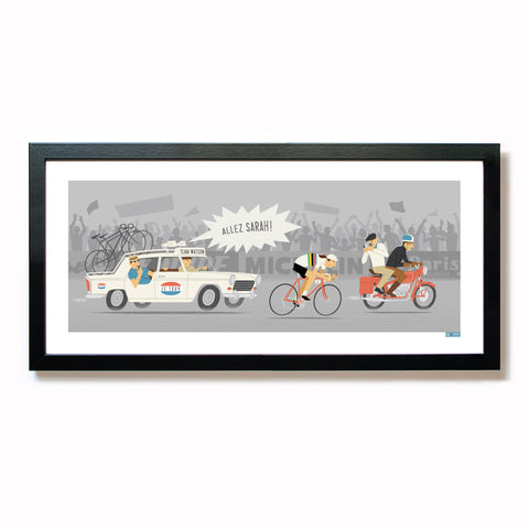 Personalised Female Time Trial Cycling Print