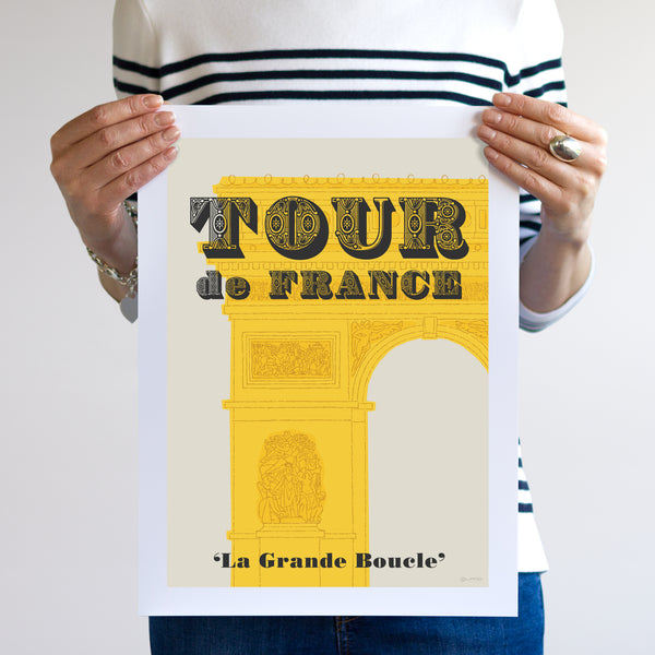 Tour de France poster, unframed, 30 x 40 cm.