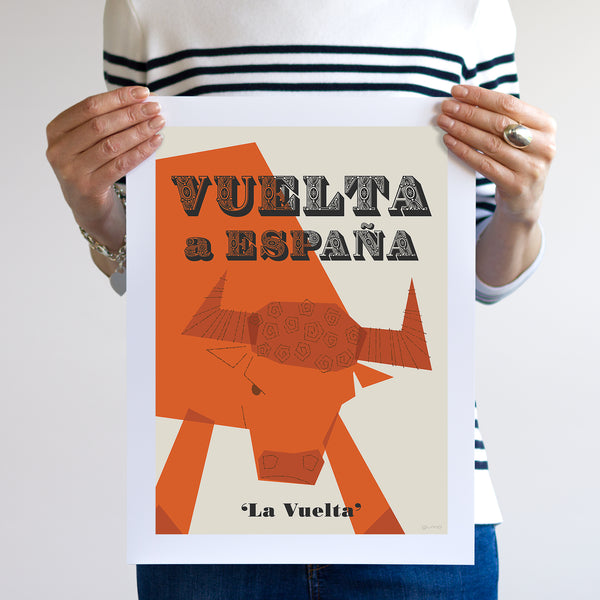 Vuelta Cycling Poster, unframed, 30 x 40 cm.