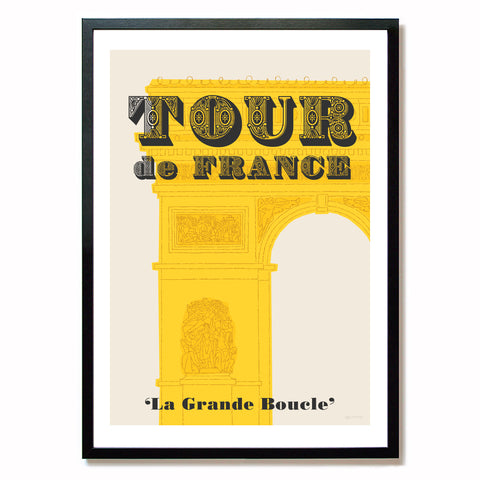 Tour de France poster, Arc de Triomphe, A2.