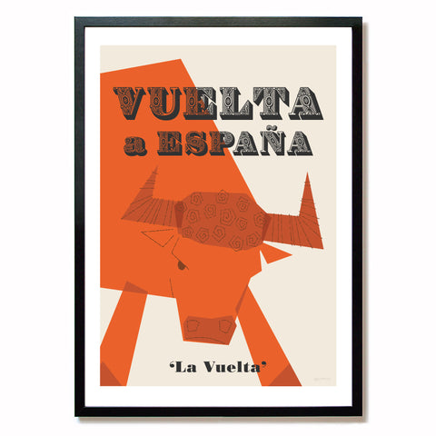 Vuelta Cycling Poster, A2.