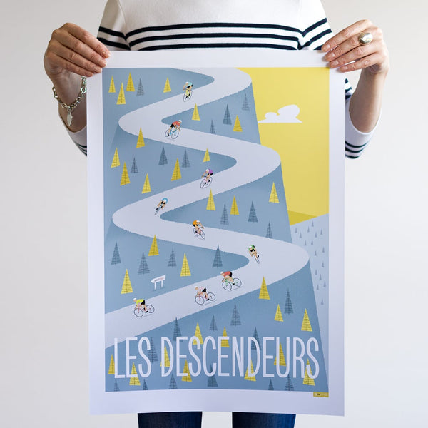 Descenders cycling print. A2.