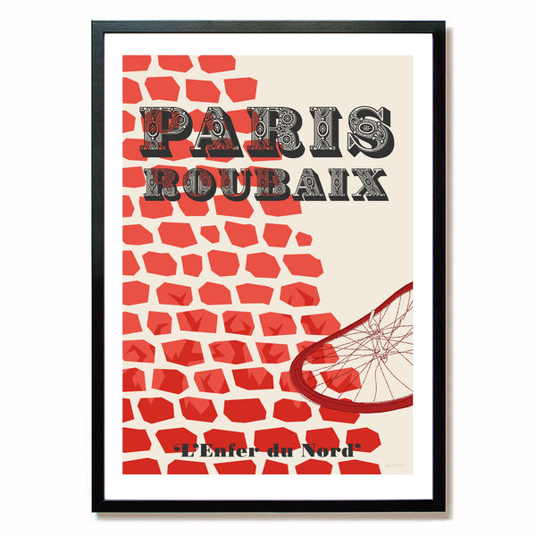 Paris-Roubaix Cycling Poster.