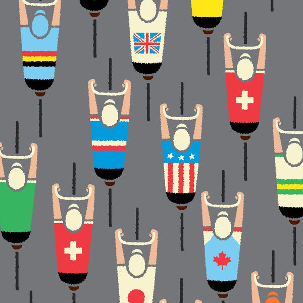 peloton cycling poster, detail