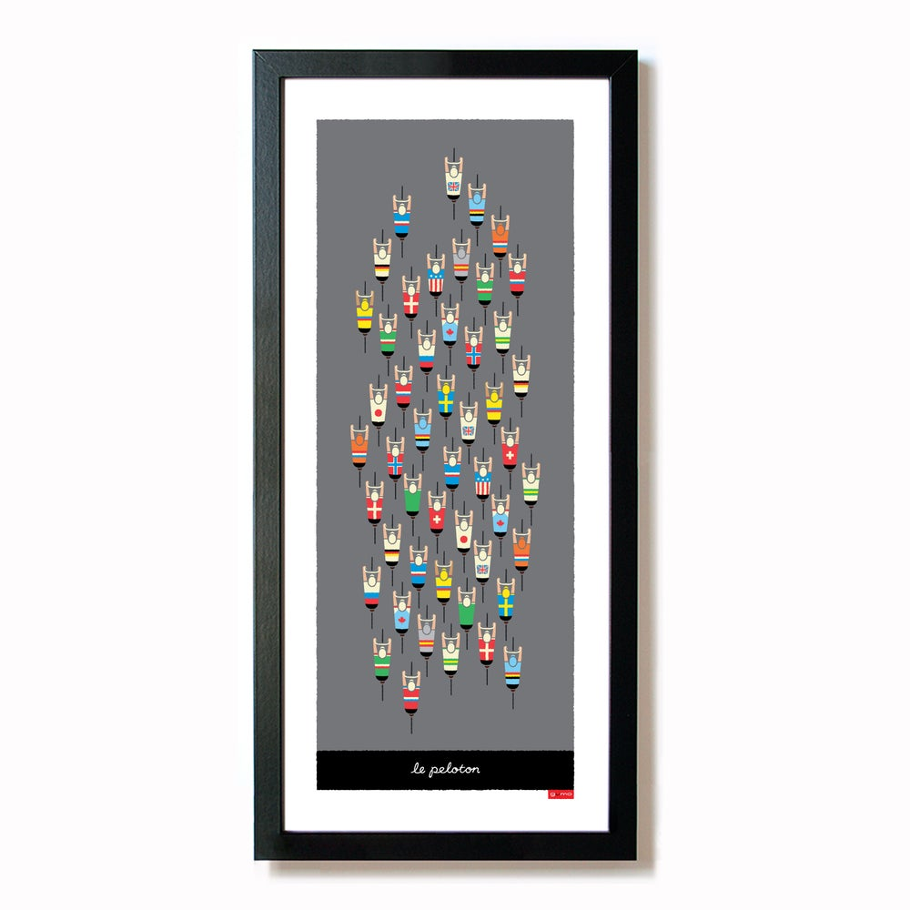 peloton cycling print, framed