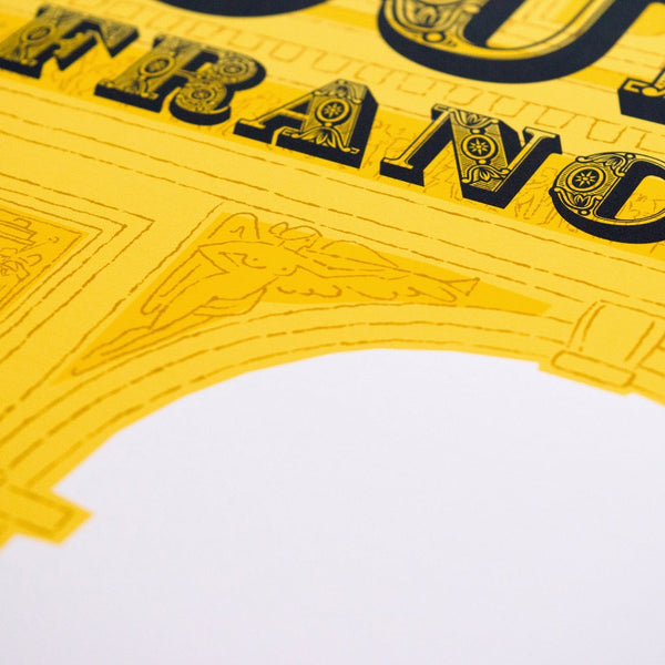 Tour de France poster detail, 30 x 40 cm.