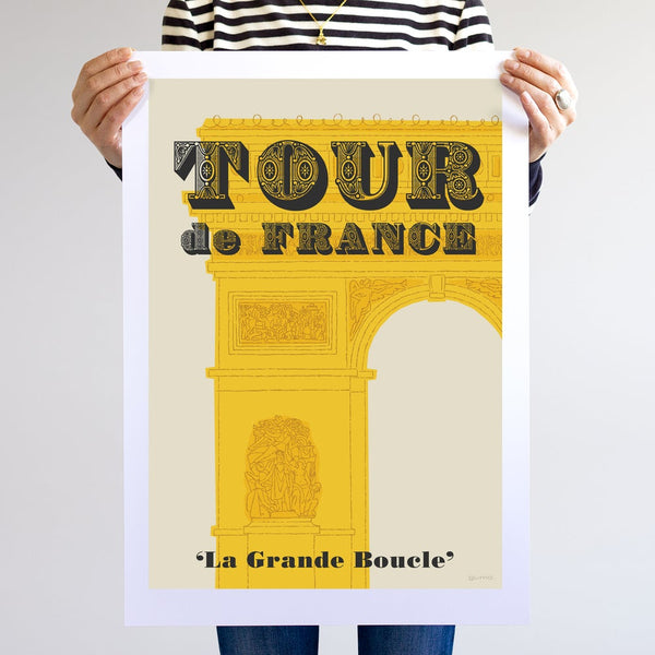 Tour de France cycling print, unframed, A2.