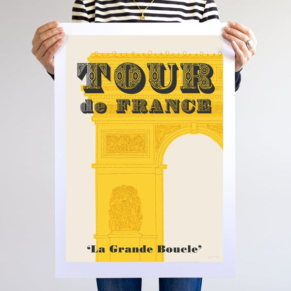Tour de France poster, unframed, A2.