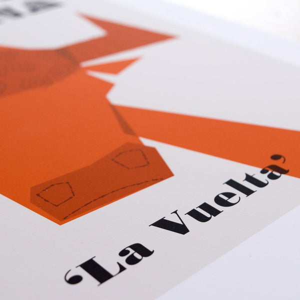 Vuelta Cycling Poster, detail, 30 x 40 cm.