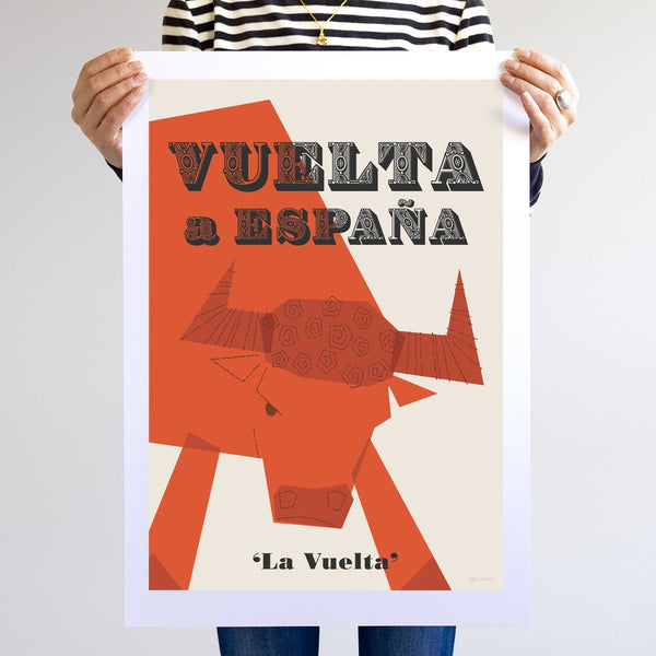 Vuelta Cycling Poster, unframed, A2.