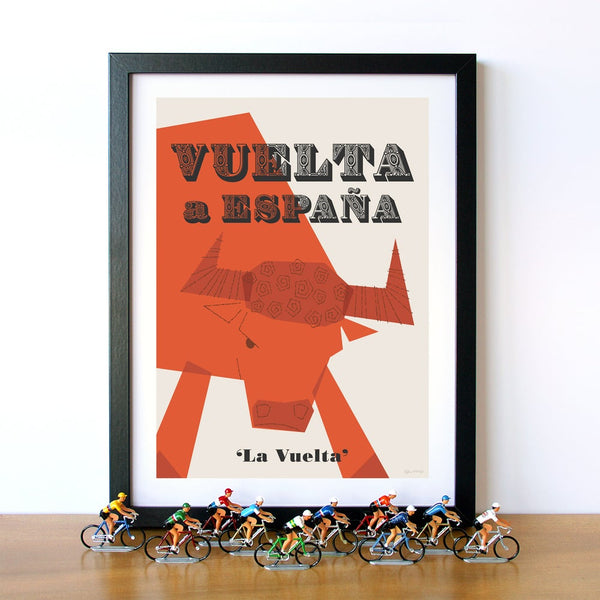 Vuelta Cycling Poster, 30 x 40 cm.