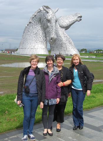 Pottery Ladies on our day out to The Kelpies