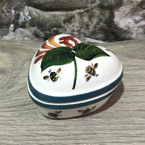Honeysuckle Small Heart Trinket Box