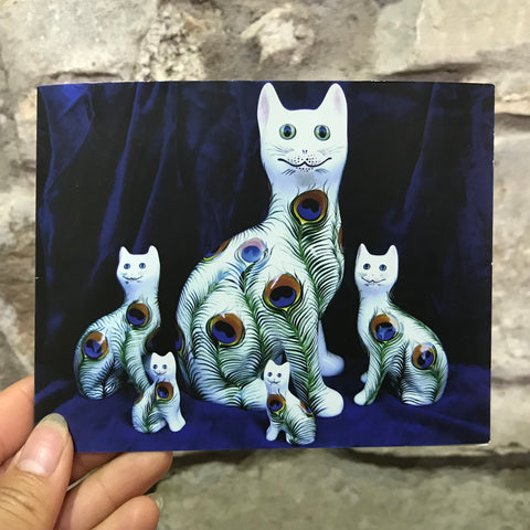 Peacock Cats Card