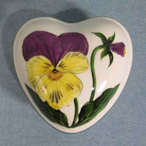 Pansy Small Heart Trinket Box