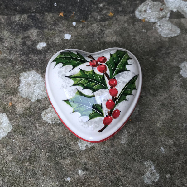 Holly Small Heart Trinket Box