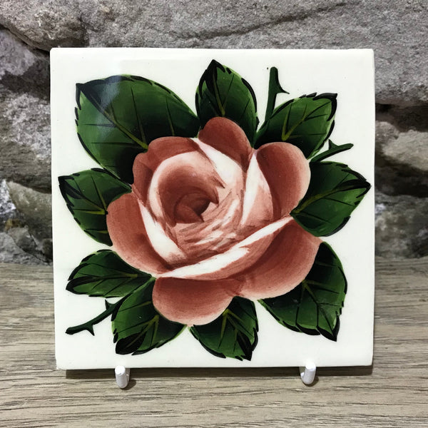Cabbage Rose Rustic Tile
