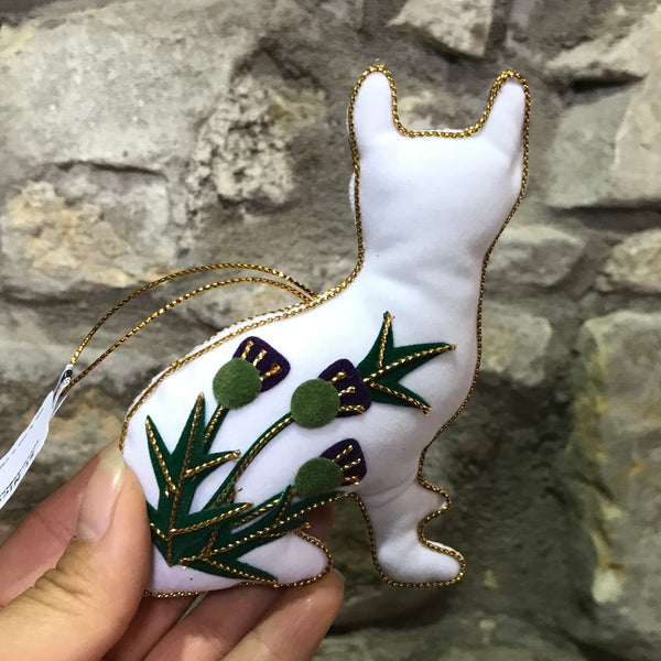 Thistle Wemyss Ware Inspired Padded Cat