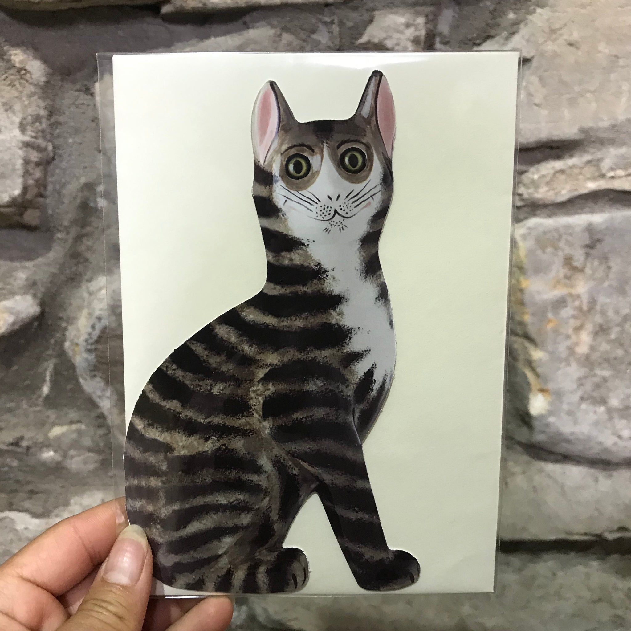 Tabby Small Cat Card