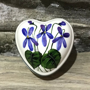 Violet Small Heart Trinket Box