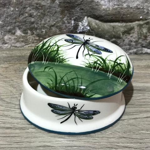 Dragonfly Small Oval Trinket Box