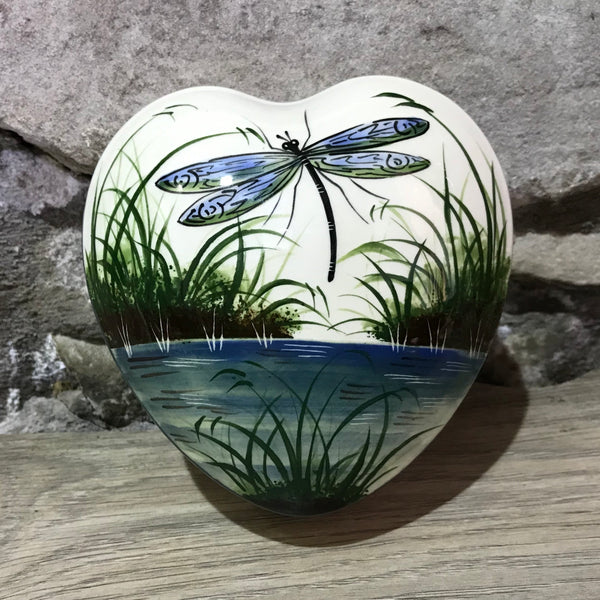 Dragonfly Large Heart Trinket Box