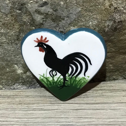 Cockerel Heart Pendant