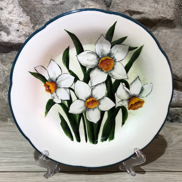 White Daffodil Gordon Plate