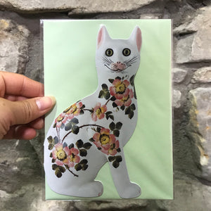 Wild Rose Cat Card