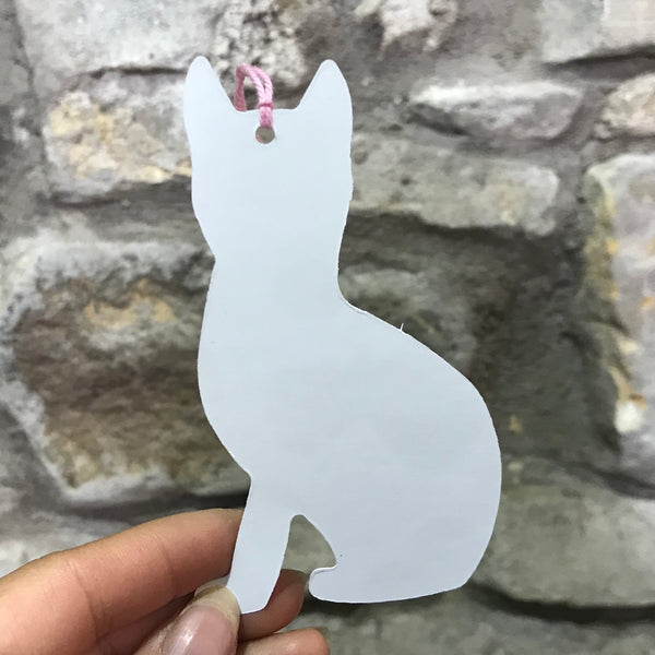 Black and White Cat Gift Tag