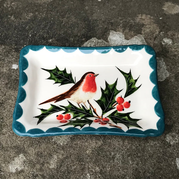 Robin and Holly Tiny Tray