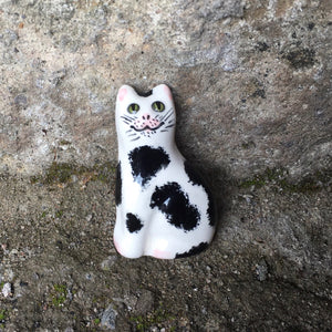 Black and White Cat Brooch