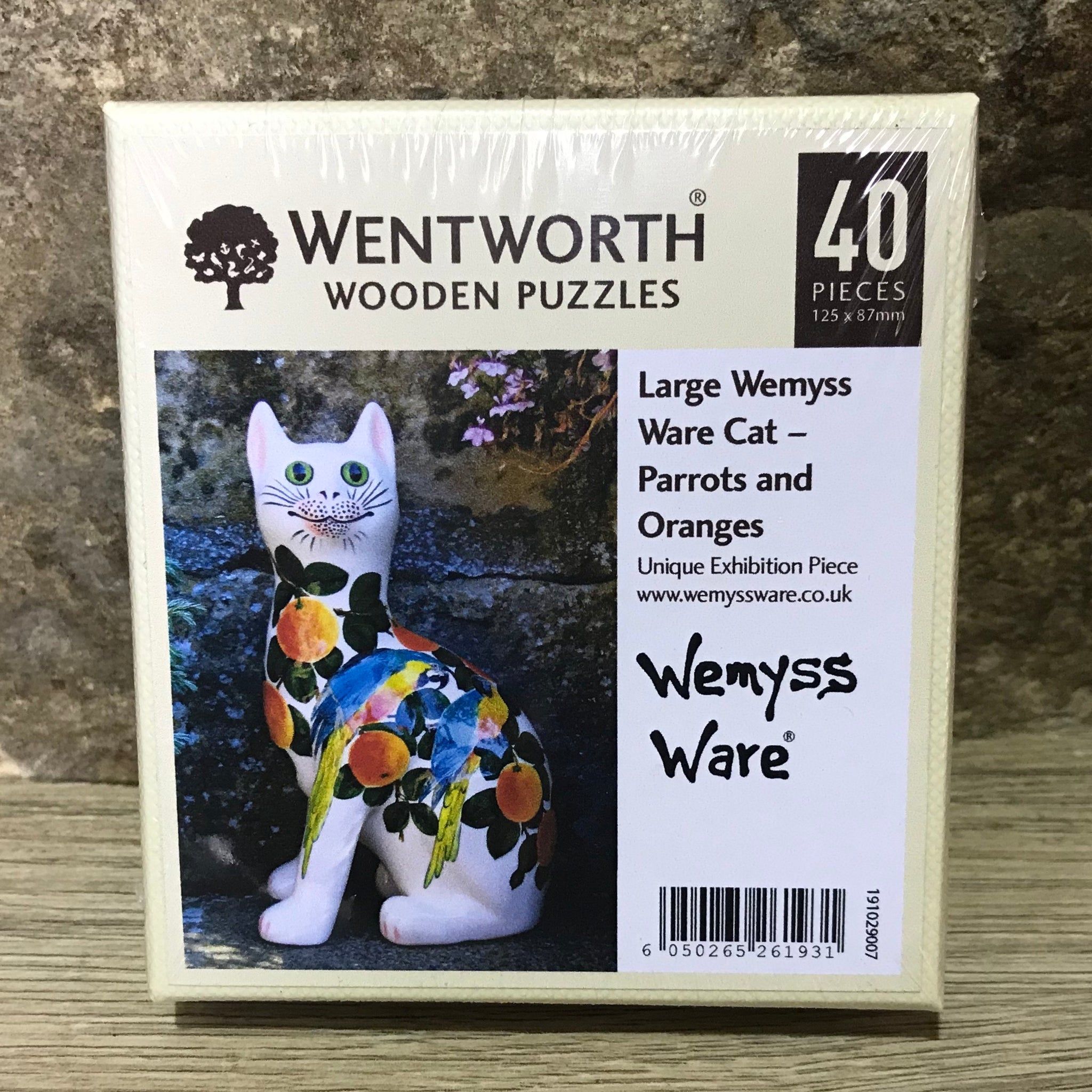 Parrots and Oranges Cats Wemyss Ware Wentworth Wooden Jigsaw