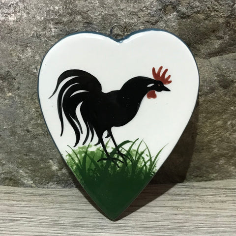 Cockerel Small Hanging Heart