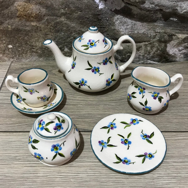 Esther Weeks Forget Me Not Miniature Tea Set